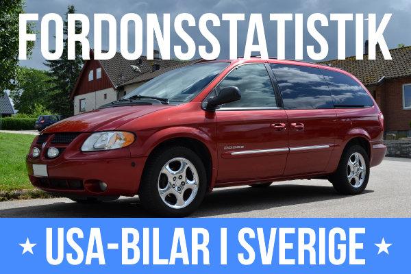 Fordonsstatistik USA-Bilar i Sverige