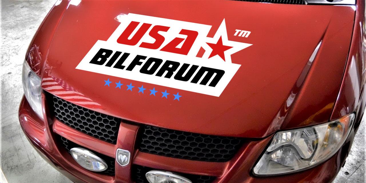 Dodge Grand Caravan Sport med USAbilforum logga